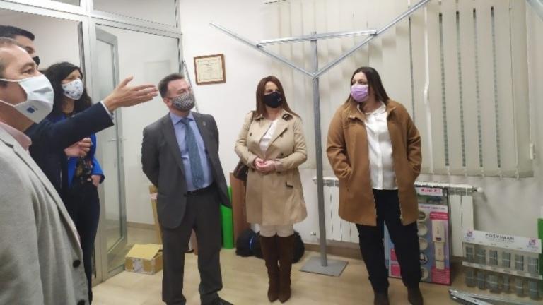 Visita del Consejero Delegado del IFCLM a Barrax (Albacete)